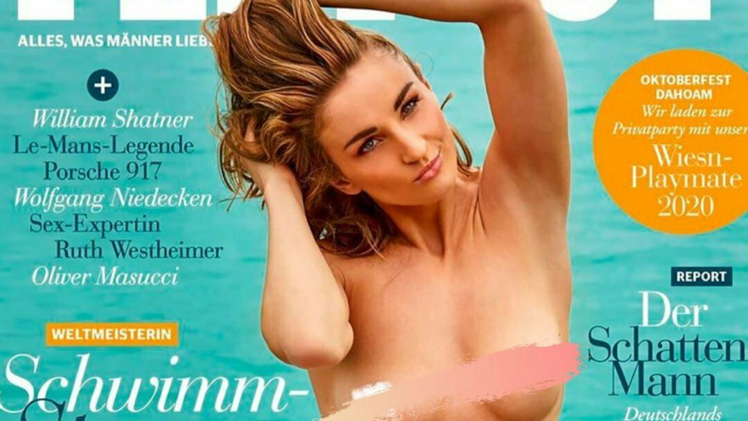 German swimmer Elena Krawzow poses nude for the world famous magazine 3