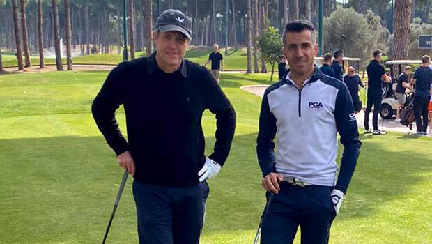 Famous actress Hugh Grant spotted at golf in Antalya