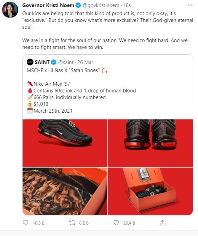 Lil Nas X criticized for his stupid shoe design 4
