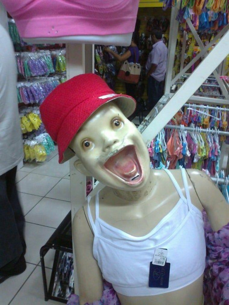 These Mannequins both make you laugh and scare 8