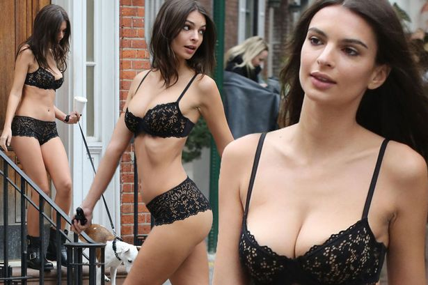 Photos of the popular American model Emily Ratajkowski with her nude work 16