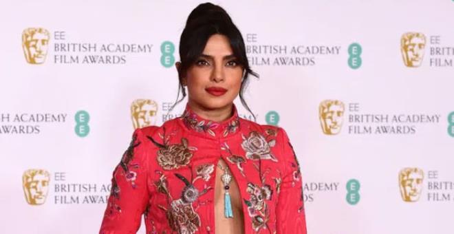 Priyanka Chopras outfit was highly appreciated at the BAFTA AWARD ceremony 2