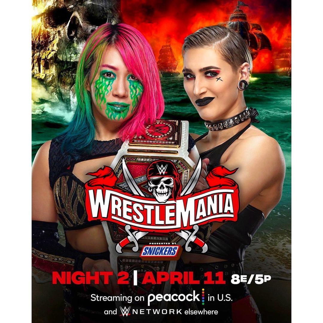 Rhea Ripley defeated Asuka for the Raw Womens title at WWE WrestleMania 37