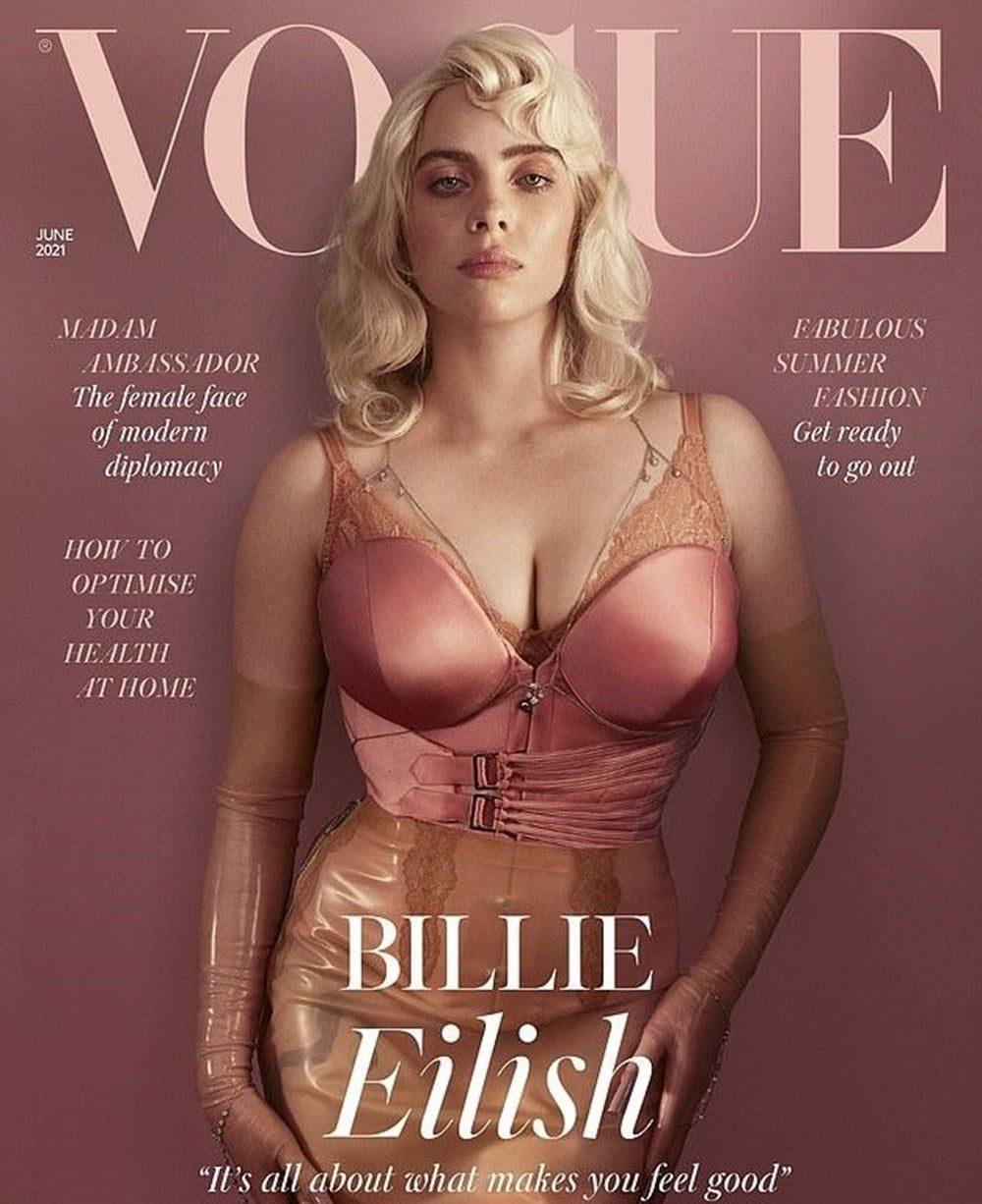 Billie Eilish very special poses for Vogue magazine 2