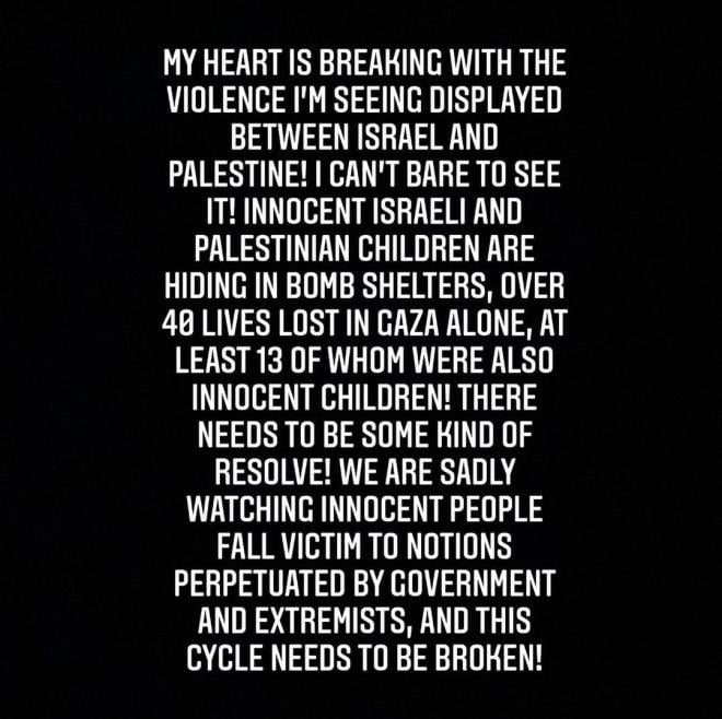 Rihanna posted on Instagram about the war in Palestine 3