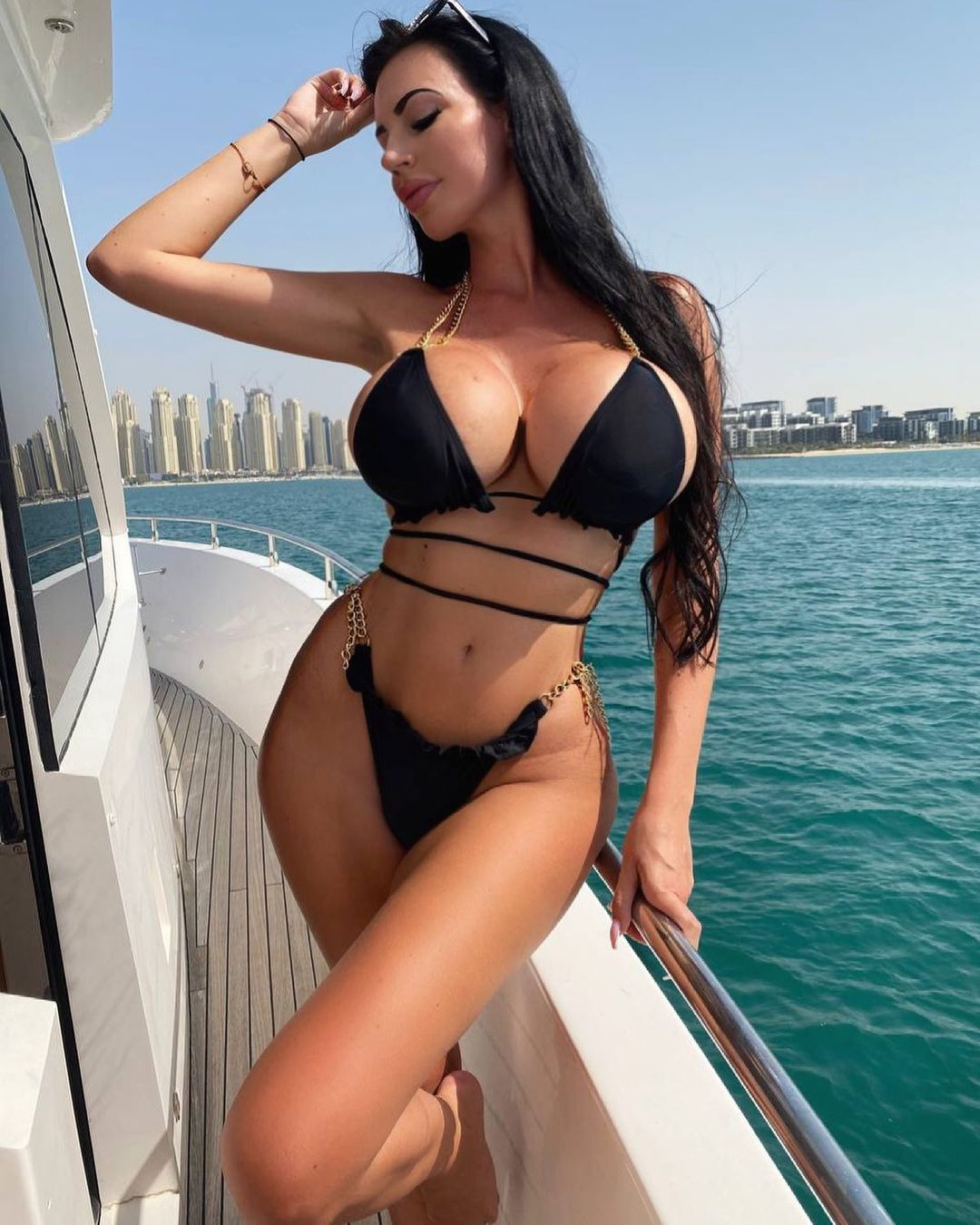 Yvonne bar one of the Instagram models draws attention with its big breasts 6
