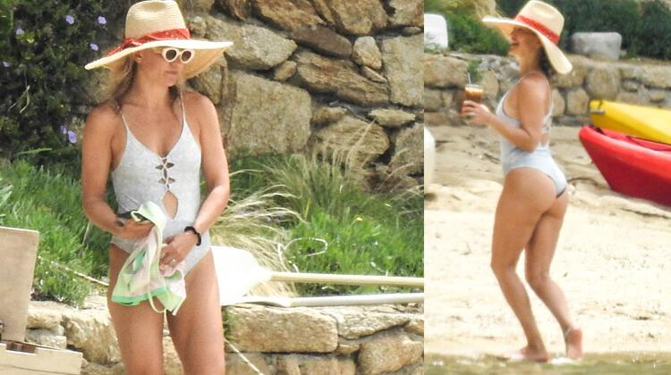Kate Hudson on vacation with her little girl 2