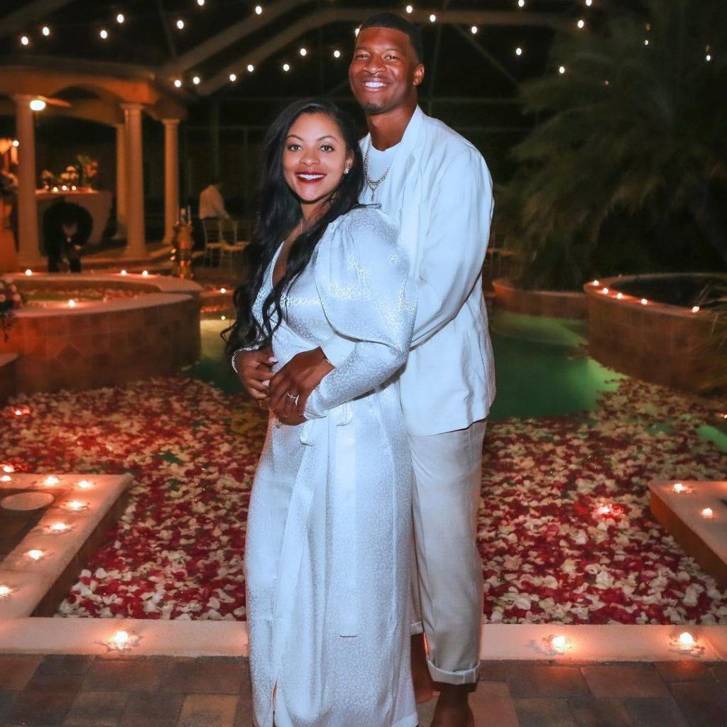 Who is Jameis Winstons wife The cornerstone of the Breion N. Winston happy family 1