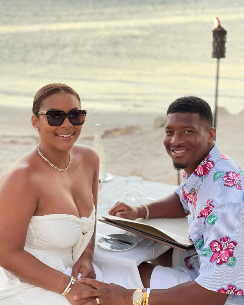 Who is Jameis Winstons wife The cornerstone of the Breion N. Winston happy family 2