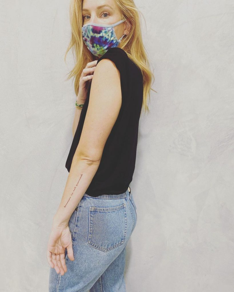 Do you know the meaning of Heather Morris new tattoo 1