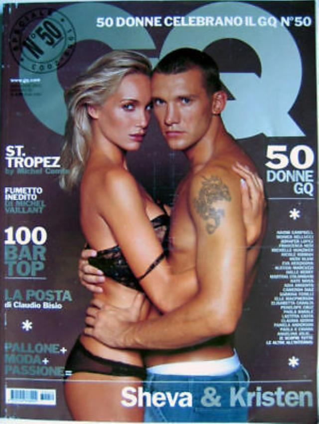Nude photos of Andriy Shevchenko and his wife shared with the press 3