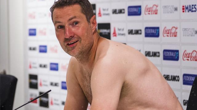 Brian Prisk kept his word and appeared naked for the cameras 1