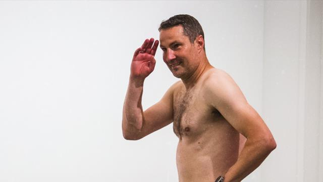 Brian Prisk kept his word and appeared naked for the cameras 2