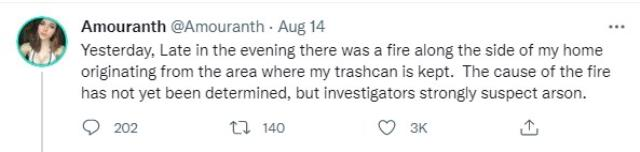 Twitch streamer Amouranth suspects home fire is arson 1