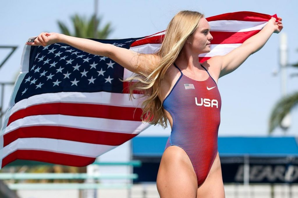 Who is Delaney Schnell the silver medalist at the 2020 Tokyo Olympics 1