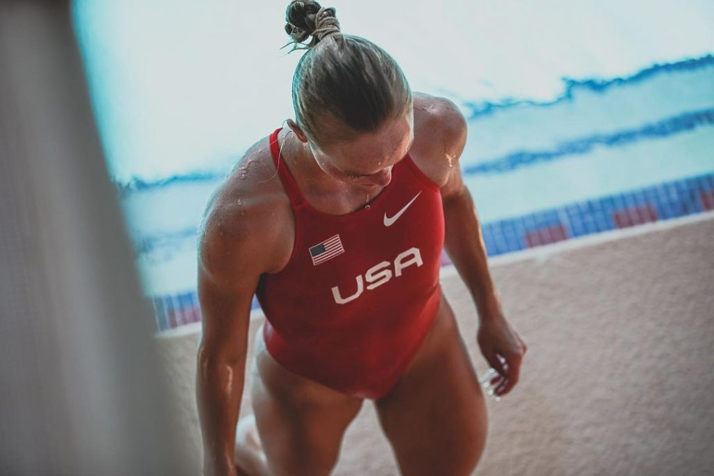 Who is Delaney Schnell the silver medalist at the 2020 Tokyo Olympics 4