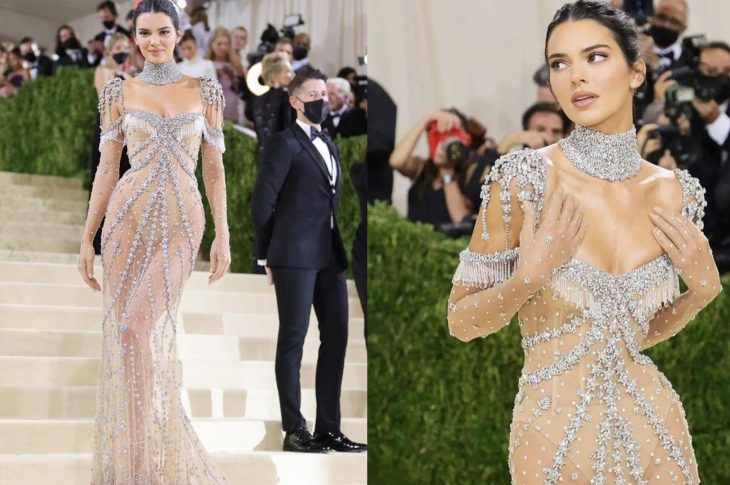 Hip Detail of Kendall Jenners Dress at MET Gala 3